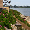 "<center>IMG#1242 Gated path along ""Cliff Walk"" Newport, Rhode Island<center>"