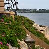 """<center>IMG#1242 Gated path along """"Cliff Walk"""" Newport, Rhode Island<center>"""