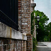 <center>Img#1238 Brickwork and Iron Fencing guard the Anglesea Mansion Newport, Rhode Island.<center>