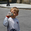 <center>IMG#1252 Aaron quenches his thirst after a hike along the Cliff Walk.