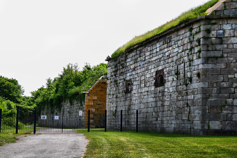 IMG#1281<br /> Bunkers still stand at Fort Adams<br /> Newport, Rhode Island