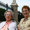 "<center>IMG#1236 Isabel and Margaret take a break  from the ""Cliff Walk"" excursion.<center>"