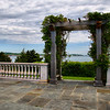 IMG#1301<br /> Castle Hill Wedding Pergola and Stage<br /> Newport Pell Bridge can be seen in the distance<br /> Newport, Rhode Island