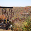 <center>IMG#5626 The Kinzua Bridge...rather what's left of it.  The Bridge was destroyed by a tornado in 2003.          McKean county, Pennsylvania October 10, 2010<center>
