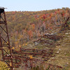 <center>IMG#5629 The Kinzua Bridge...rather what's left of it.  The Bridge was destroyed by a tornado in 2003.          McKean county, Pennsylvania October 10, 2010<center>
