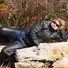 "<center>IMG#5632  ""Centerfold on the Rocks"" Kinzua Bridge trail  McKean county, Pennsylvania October 10, 2010<center>"