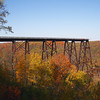 <center>IMG#5630 The Kinzua Bridge...rather what's left of it.  The Bridge was destroyed by a tornado in 2003.          McKean county, Pennsylvania October 10, 2010<center>
