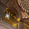 Interior of the Sultan Ahmed/ Blue Mosque in Istanbul, Turkey