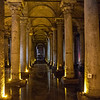 Intern of the Basilica Cistern, a Byzantine cistern in Istanbul, Turkey