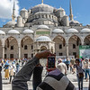 Exterior of the Sultan Ahmed/ Blue Mosque in Istanbul, Turkey