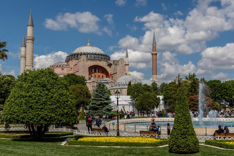 Hagia Sofia (Aya Sofia) in Istanbul, Turkey, Europe