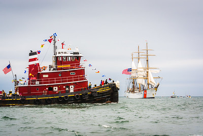 McAllister Tugboat and the USCG Barque Eagle