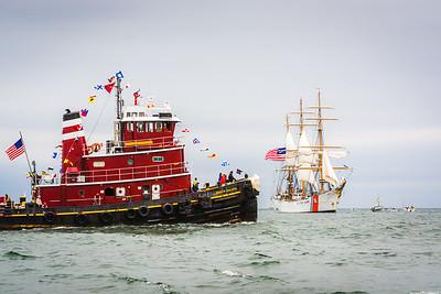 McAllister Tugboat and the USCG Barque Eagle