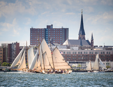 Schooners Sailing in Portland Harbor