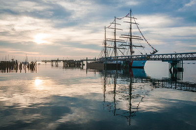 USCG Barque Eagle at Sunrise