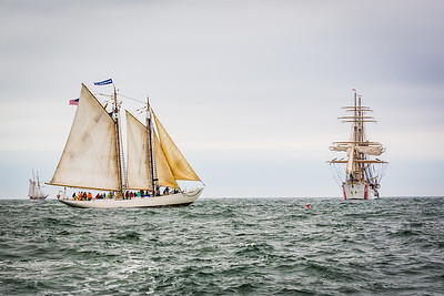 Bowdoin Schooner and the USCG Barque  Eagle