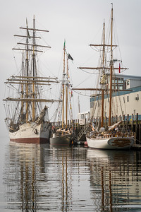 Schooners at Maine Wharf
