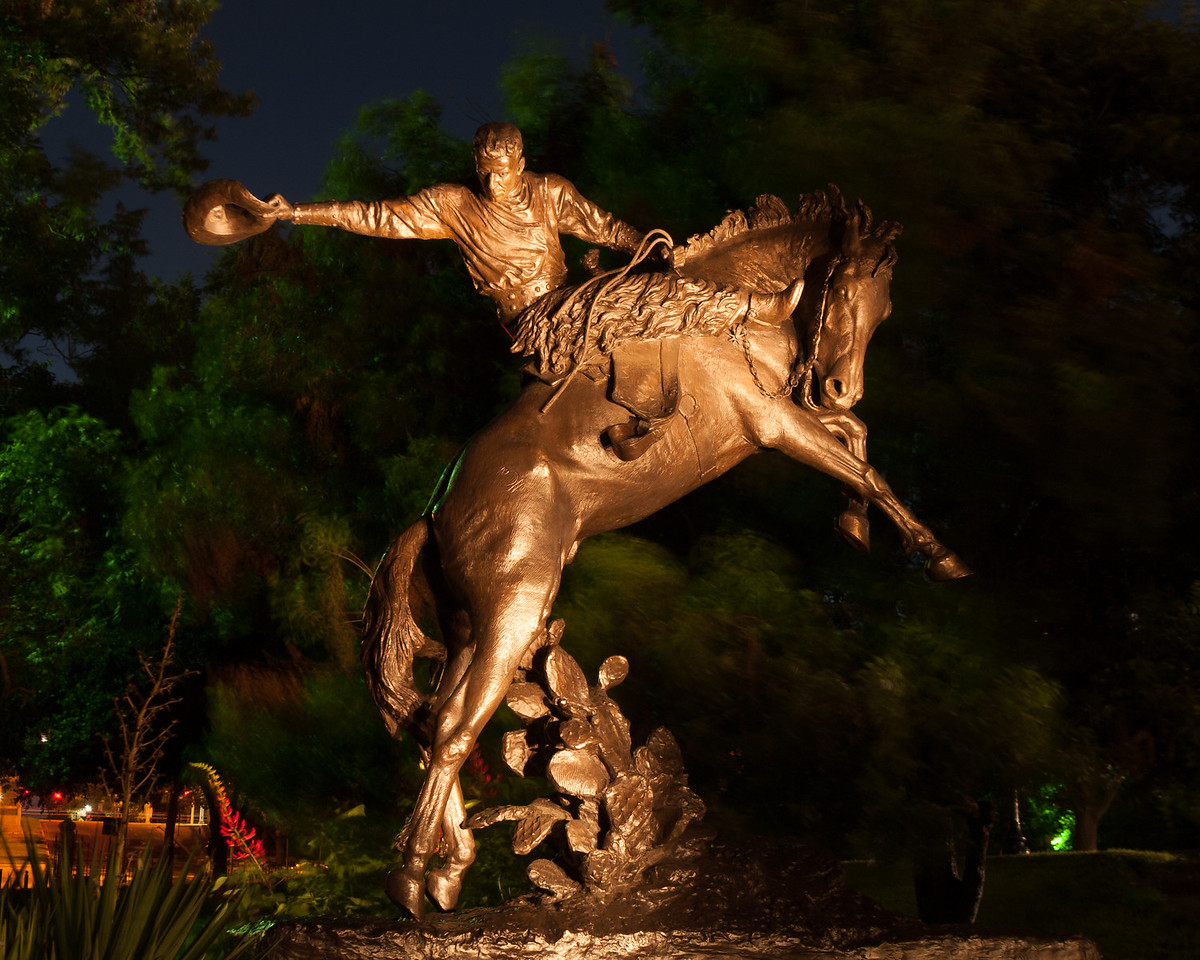COWBOY STATUE ON CAPITOL GROUNDS