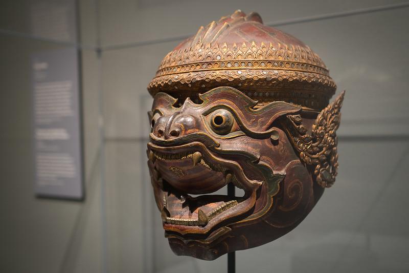 Iron theatre mask of the monkey god Hanuman