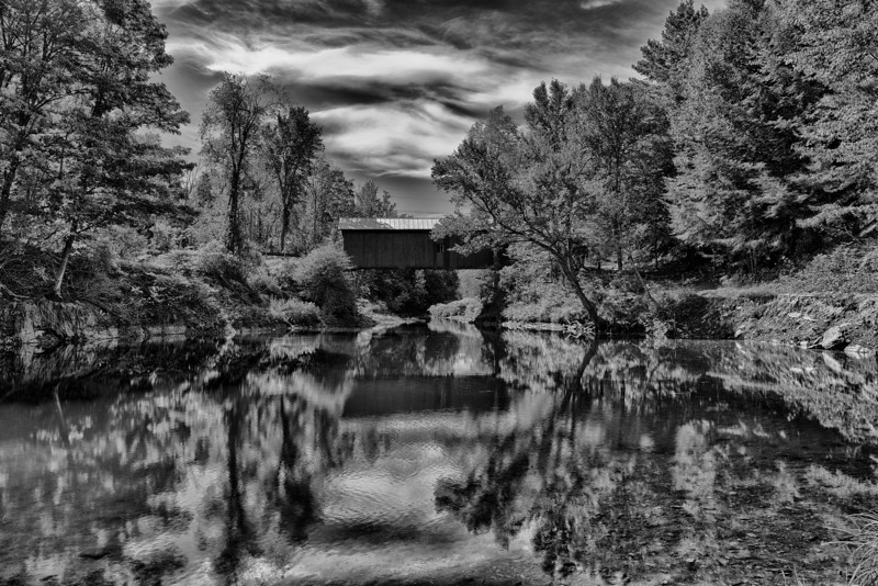 Slaughterhouse, black and white - Northfield, VT