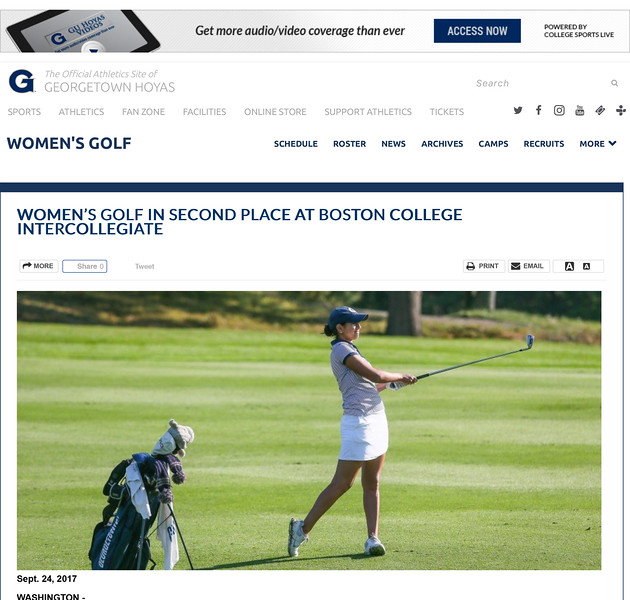 GUHOYAS.COM, Georgetown University Official Athletic Site
