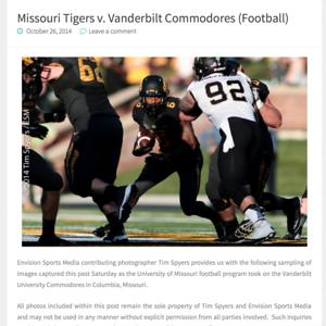 Football Mizzou v Vanderbilt