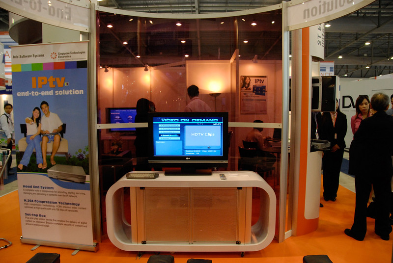 IPTV and HDTV at the ICT conference - BroadCastAsia & CommunicAsia 2006 held in Singapore.