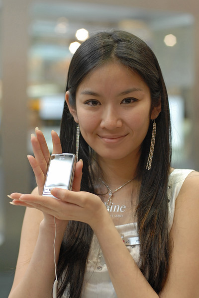 LG's Shine at the 2007 CommunicAsia exhibition in Singapore.