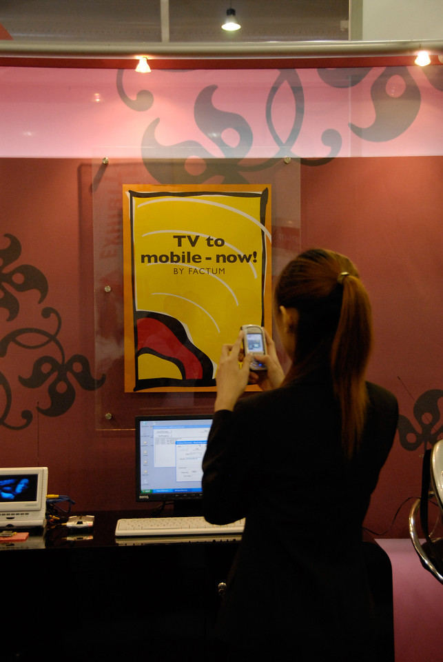 TV to mobile, Factum at the ICT conference - BroadCastAsia & CommunicAsia 2006 held in Singapore.