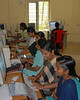 ICT training centre run by an NGO in Kerala teaching women to use computers to add to their skills.