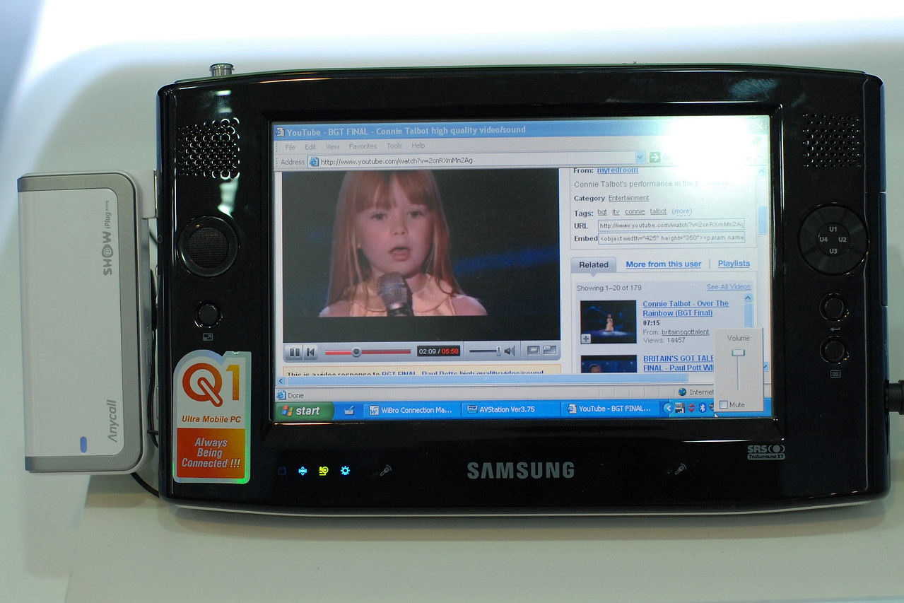 Samsung's Ultra mobile at the CommunicAsia exhibition and conference in Singapore.