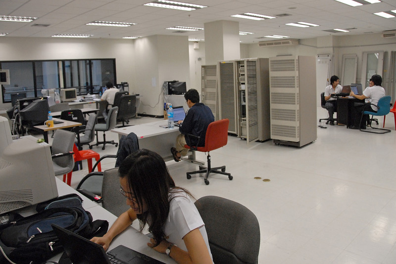 Computer Data Centre and server farm in NECTEC, Bangkok, Thailand