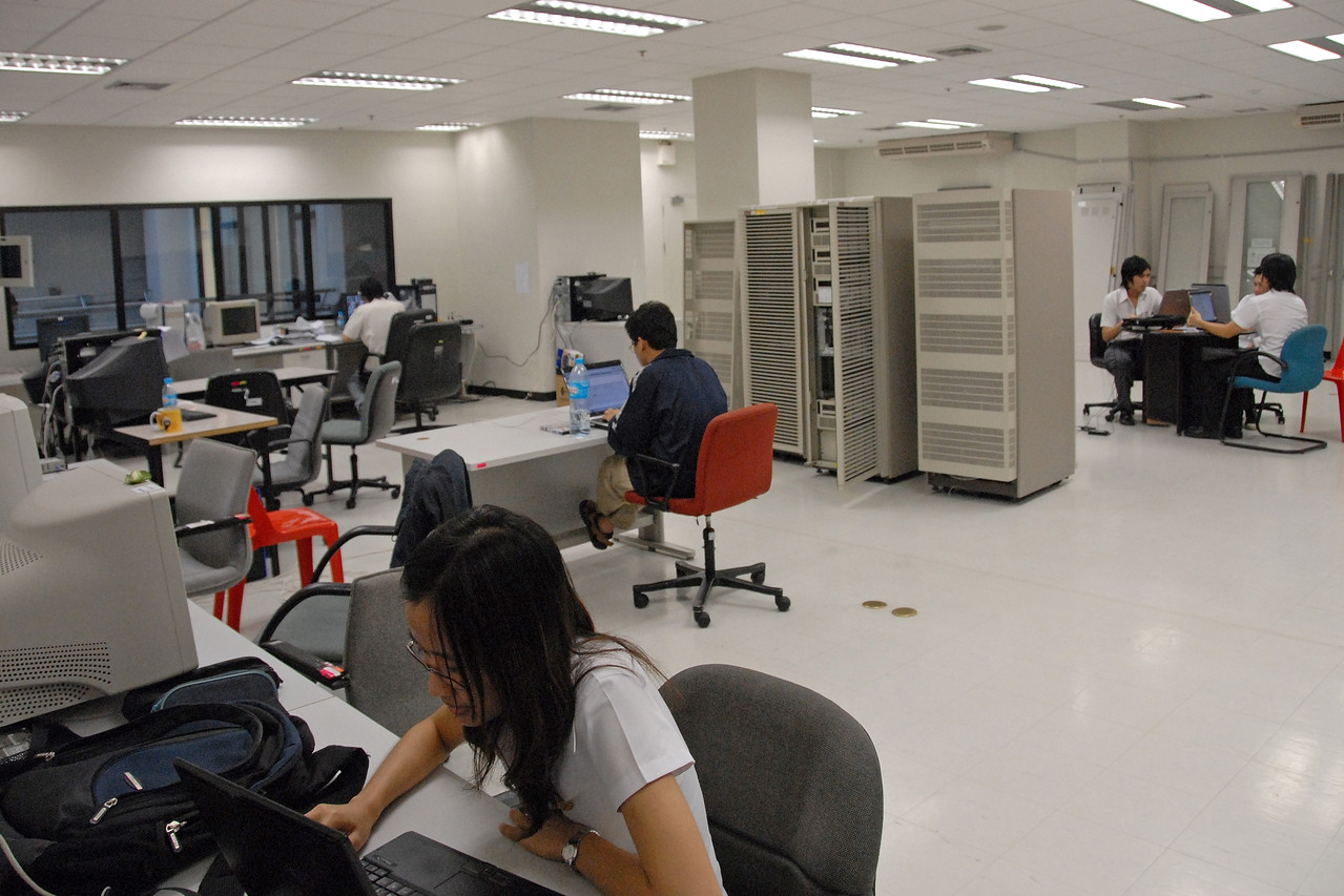 Computer Data Centre and server farm in NECTEC, Bangkok, Thailand