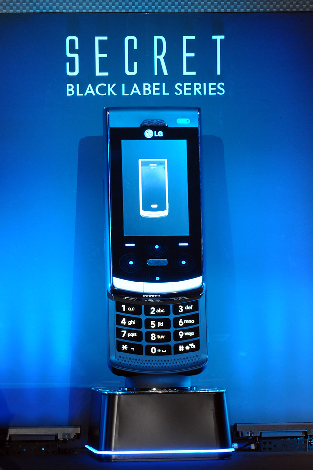 Launch of LG's Secret mobile phone at CommunicAsia 2008 at Singapore Expo, Singapore