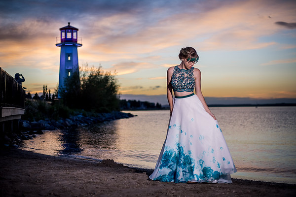 Sunset Grad Photos by Sylvan Lake Lighthouse