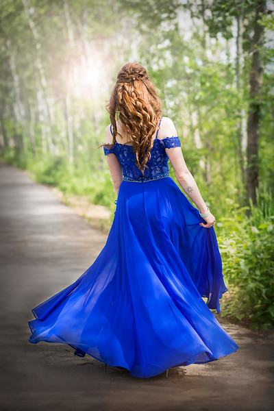 Stunning Blue Grad Dress - Sylvan Lake