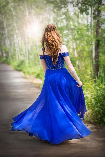 Stunning Blue Grad Dress - Sylvan Lake