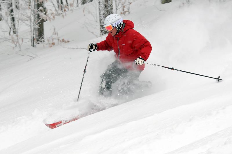 Telemark skiing - Timberline Feb 2013