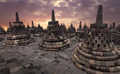 Borobudur Temple, Yogjakarta, Indonesia