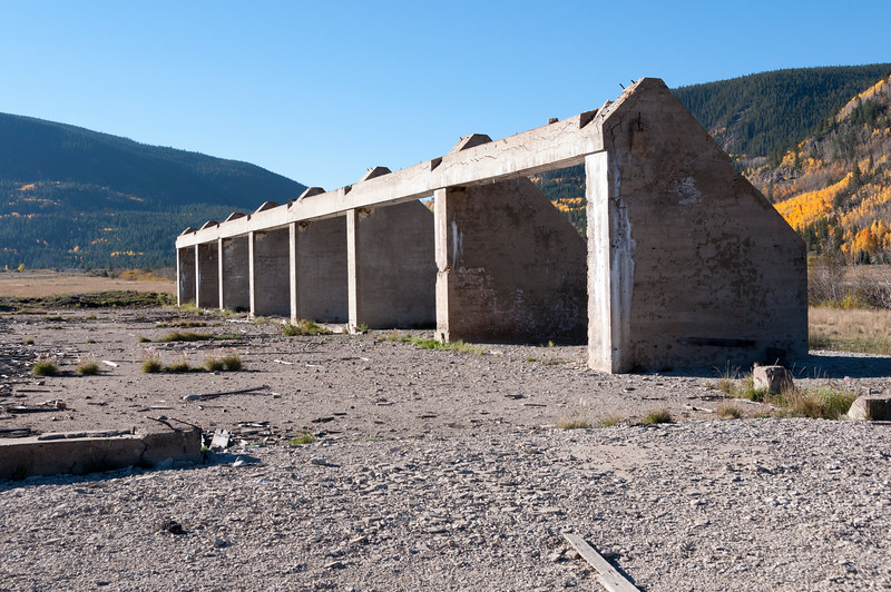 Ruins of the Field House at Camp Hale.  Not much else is left.