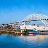 harbor bridge in oil glaze