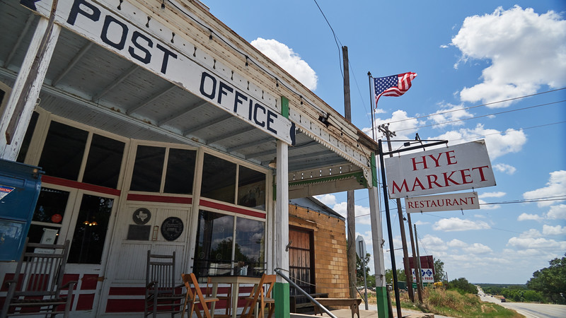 Market and Post Office - Hye, Texas