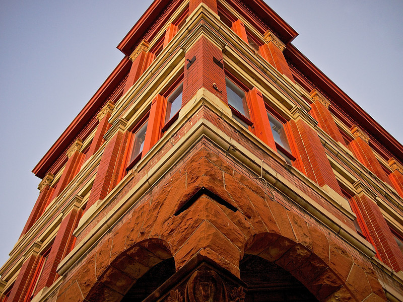 Ornate Facade, Taylor National Bank - Taylor, Texas