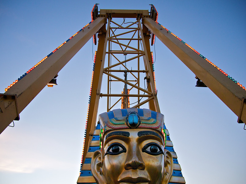 Pharaoh's Fury, Parking Lot Carnival - Round Rock, Texas