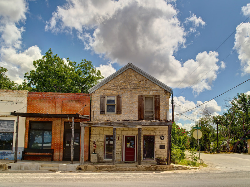Stubblefield Building and downtown - Liberty Hill, Texas