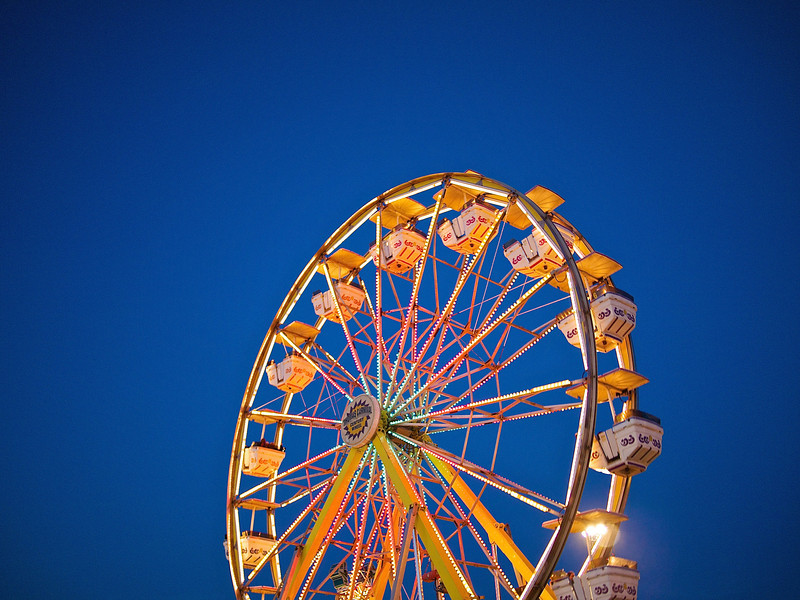 Ferris Wheel at Blue Hour, Parking Lot Carnival - Round Rock, Texas