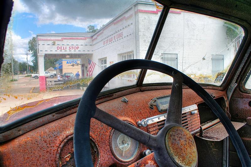 Rusted Truck Interior - Smithville, Texas