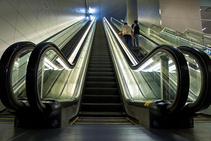 Escalators, Terminal D - DWF Airport, Texas