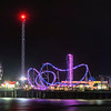 Galveston Pier at Night