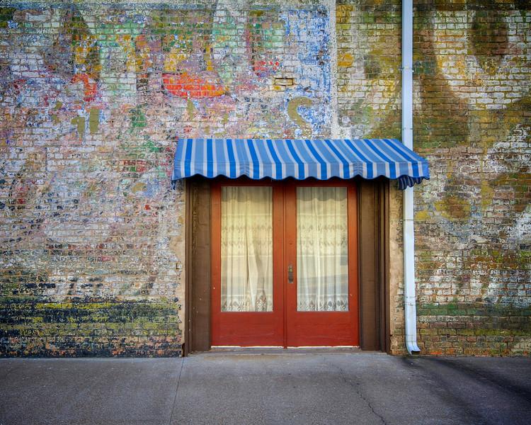 Technicolor Wall, Downtown - Smithville, Texas